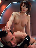 tgirl eva lin dominates and fucks guy