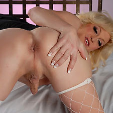 blonde shemale pornstar legend olivia love
