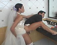 shemale bride isabelly frazao fucks the groom