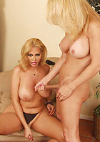 blonde shemale babes tonya and rachel stroke their shecocks