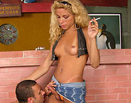 cigarette smoking tranny star larissa monteiro fucks guy